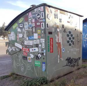 Marfa dumpster