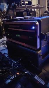 The Ableton rig - Mac mini and MOTU 828